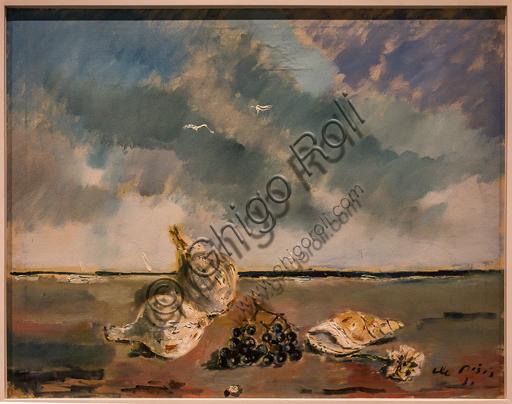 """Museo Novecento: """"Natura morta con marina"""", di Filippo De Pisis, 1931. Olio su tela."""
