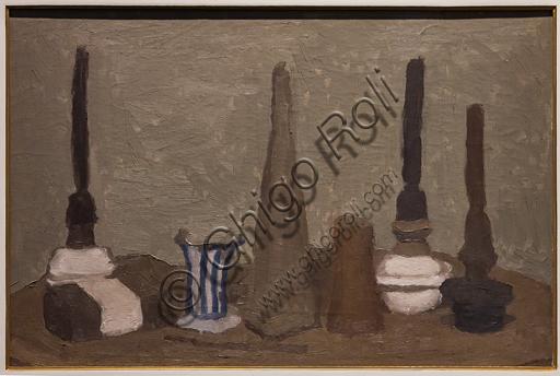 """Museo Novecento: """"Natura morta"""", di Giorgio Morandi, 1932-5. Olio su tela."""