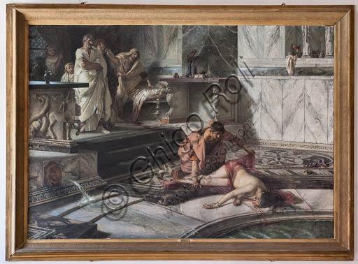 """Cremona, Palazzo del Comune, Sala della Consulta: """"Nerone e Agrippina"""", di Antonio Rizzi."""