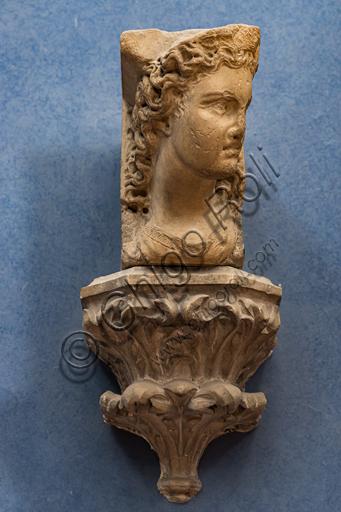 "Nicola Pisano: ""Bracket, female head"", 1260-5, marble."
