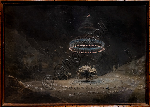 "Giuseppe Pietro Bagetti: ""The Walnut Tree in Benevento (the Witches' Sabbath)"", watercolour on paper, 1822 - 6."