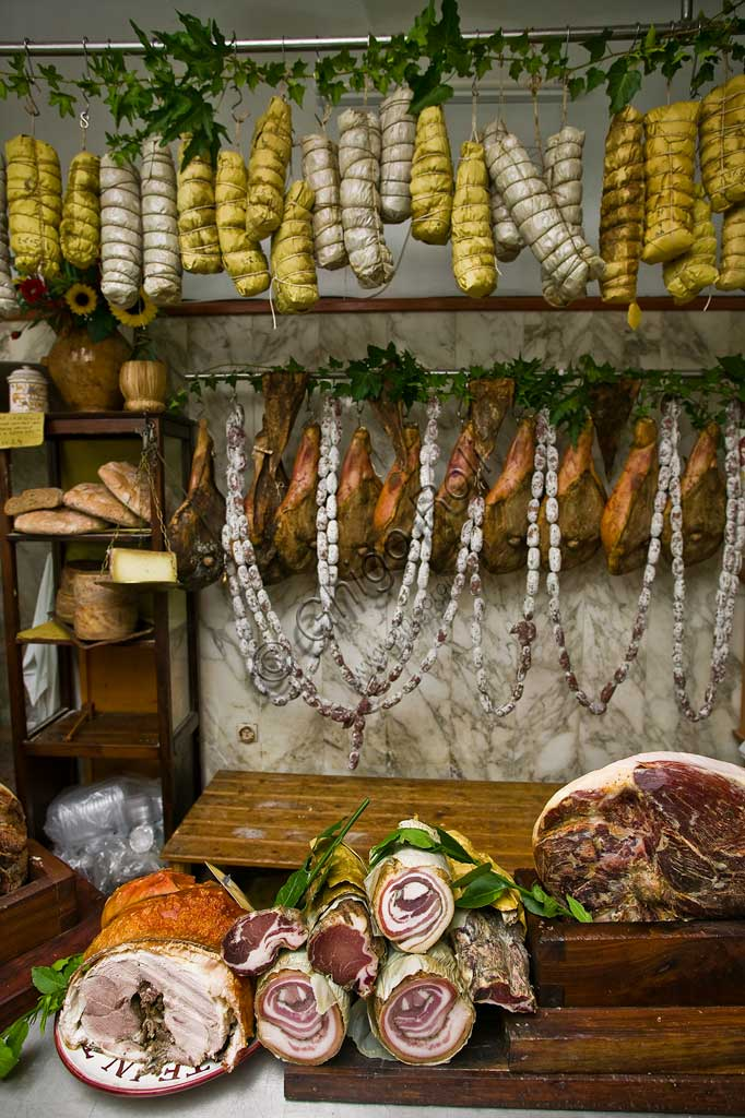 "Butcher shop ""Tagliavento"": a selection of coldcuts."