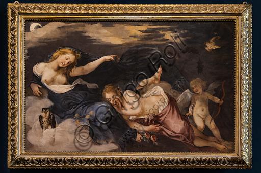 """""""Night with Dawn (Aurora) and a Putto"""", by Giovanni Mannozzi known as Giovanni da San Giovanni, 1635, detached fresco."""