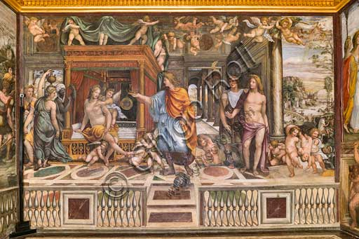 "Rome, Villa Farnesina, Alexander's Room (or The Chigi Wedding Room): ""The Wedding of Alexander the Great and Roxane"", fresco by Sodoma (Giovanni Antonio de' Bazzi), 1519."