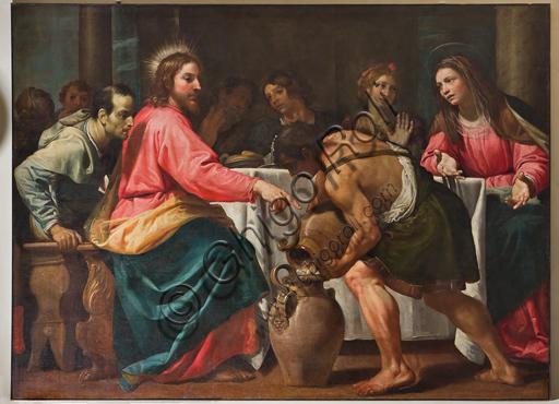 """Genova, Duomo (Cattedrale di S. Lorenzo), Interno, Battistero (già Chiesa di San Giovanni il Vecchio): """"Nozze di Cana"""", di Domenico Fiasella."""
