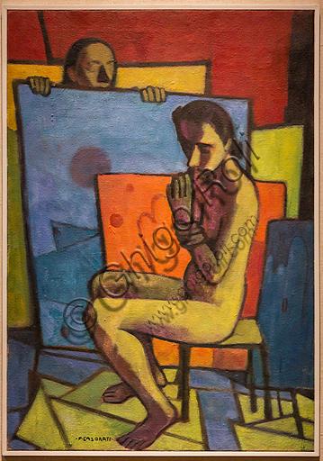 """Museo Novecento: """"Nudo giallo"""", di Felice Casorati, 1945. Olio su tela."""