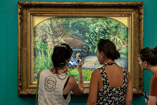 """Ophelia"",  (1851-2)  by John Everett Millais (1829 - 96); oil painting on canvas."