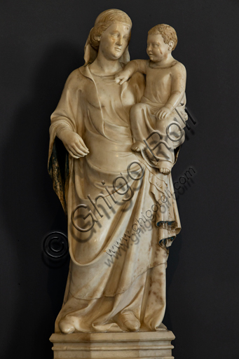 Orvieto, MODO (Museum of the Opera of the  Duomo of Orvieto): Madonna with Child, By NIno and Andrew Pisano, 1346-7, marble, taken from the Cathedral.