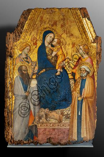 Orvieto, MODO (Museo dell'Opera del Duomo di Orvieto): Madonna con Bambino tra i santi Agnese, Pietro, Paolo e Lucia, di Lippo Vanni, tempera e oro su tavola, metà XIV secolo.