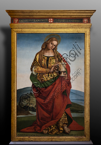 Orvieto, MODO (Museum of the Opera of the  Duomo of Orvieto):  S. Magdalene, by Luca Signorelli, 1501, tempera on panel, from the Chapel of the Magdalene in the Duomo.