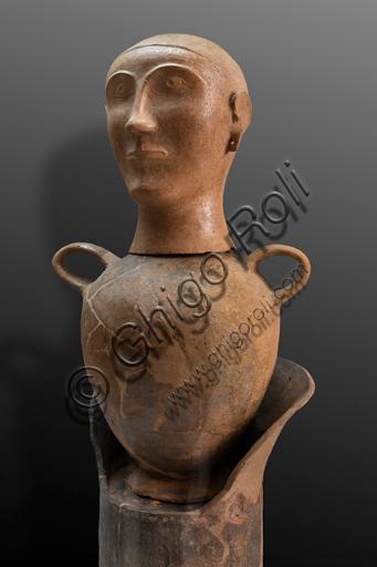 Orvieto, Museum Faina: Canopic urn (first half of the VI century B.C. from the Chiusi area.
