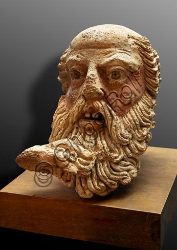 Orvieto, Museo Faina: Testa di vecchio (fine V secolo a. C.).