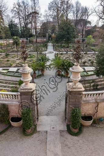 Padova, l'Orto Botanico: scorcio dell'Hortus Cinctus.