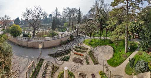 Padova, l'Orto Botanico: veduta dell'Hortus Cinctus.