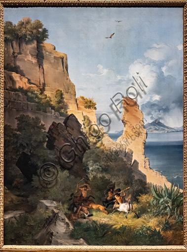 """Lancelot Théodore Turpin de Crissé: """"Landscape with hunt of centaurs"""", oil painting on canvas, 1836."""