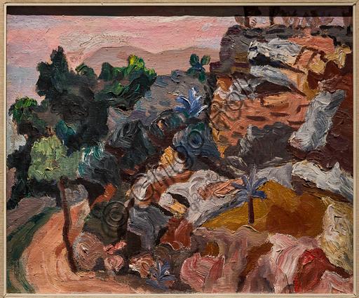 """Museo Novecento: """"Paesaggio di Alassio"""", di Carlo Levi, 1934. Olio su tela."""