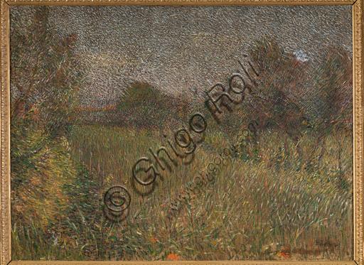 """Collezione Assicoop - Unipol: Giovanni Battista Crema (1883 - 1964), """"Paesaggio primaverile"""", olio su tela, cm 75,5 X 100."""