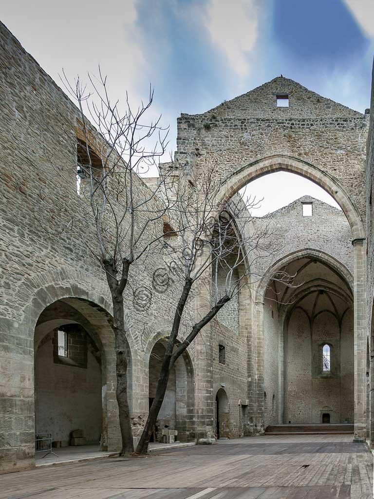 Palermo: internal view of the Church of St. Maria dello Spasimo.