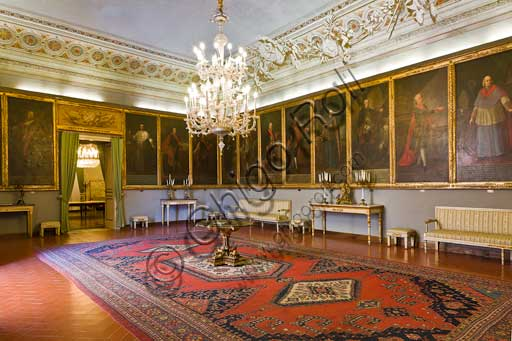 Palermo, The Royal Palace or Palazzo dei Normanni (Palace of the Normans), The Royal Apartment, The Viceroy Room: view.