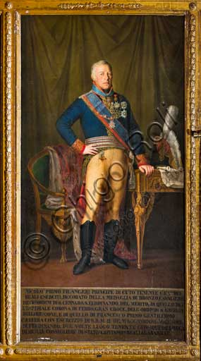 "Palermo, The Royal Palace or Palazzo dei Normanni (Palace of the Normans), The Royal Apartment, The Viceroy Room: ""Nicolò Filangieri (or Filangeri)"", General Lieutenantof the Kingdom (1821); oil painting attributed to Giuseppe Patania's school (1780-1852)."