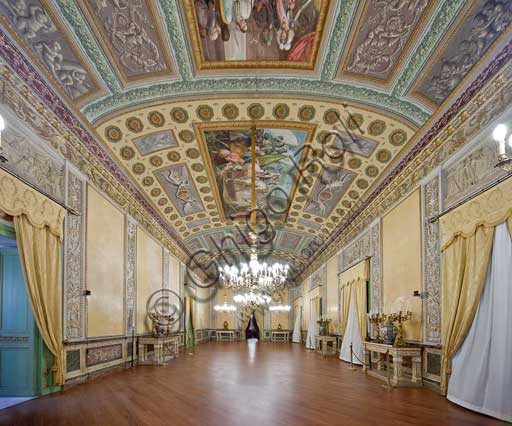 Palermo, The Royal Palace or Palazzo dei Normanni (Palace of the Normans), The Royal Apartment, The Yellow Room: view.
