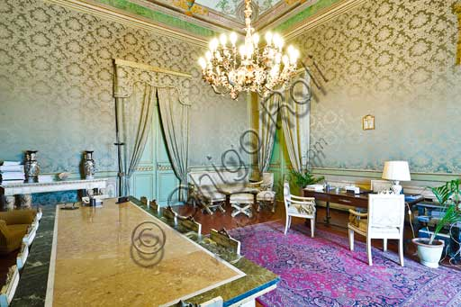 Palermo, The Royal Palace or Palazzo dei Normanni (Palace of the Normans), The Royal Apartment, the Green Room: view.