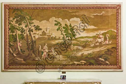 Palermo, The Royal Palace or Palazzo dei Normanni (Palace of the Normans), The Royal Apartment, Room of the Peeling Walls or Former Presidents: tapestry of French manufacture, late XVII century.