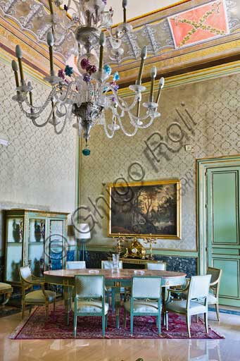 Palermo, The Royal Palace or Palazzo dei Normanni (Palace of the Normans), The Greek Tower, the Apartment of Charles III Borbone (The Formica Hall: view of one of the rooms.