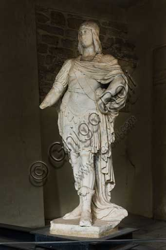 Palermo, The Royal Palace or Palazzo dei Normanni (Palace of the Normans), The Maqueda Courtyard: statue.