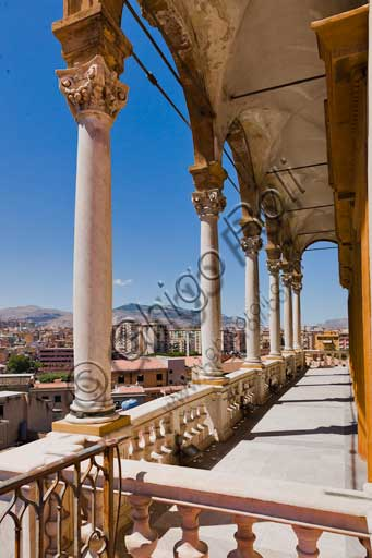 Palermo, The Royal Palace or Palazzo dei Normanni (Palace of the Normans), the Porta Nuova Tower: the loggia.