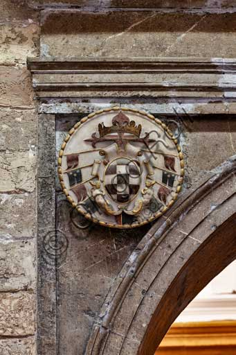 Palermo, The Royal Palace or Palazzo dei Normanni (Palace of the Normans), Joharia Tower, the Winds Room: emblem of Viceroy Toledo.