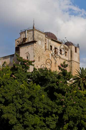 Palermo, The Royal Palace or Palazzo dei Normanni (Palace of the Normans): view of the Pisan Tower from West.