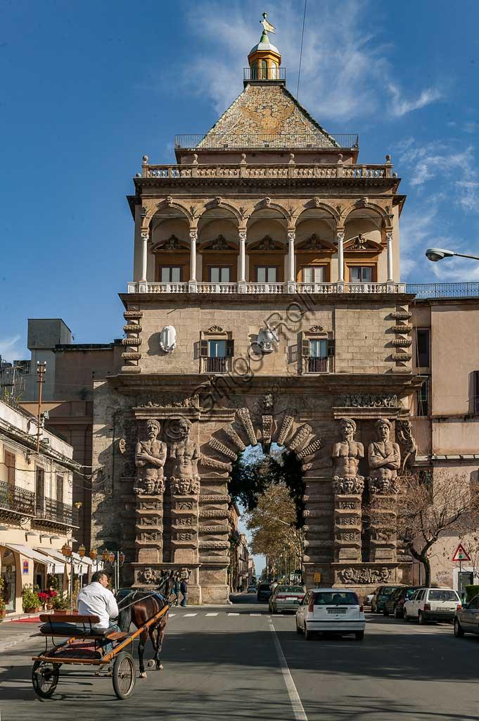 Palermo: view of Porta Nuova.