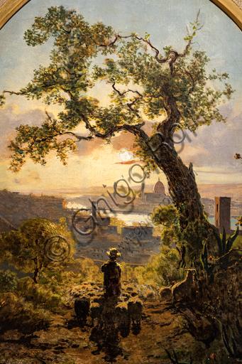 """Telemaco Signorini: """"Panorama di Firenze da Colle S. Miniato"""",  1856, olio su tela."""
