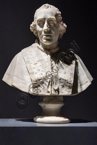 """""""Papa Pio VII"""", 1804-5, di Antonio Canova (1757 - 1822), marmo."""