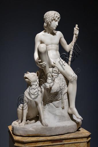"""Pastorello"", 1823-26, di Bertel Thorvaldsen (1770 - 1844), marmo di Carrara."