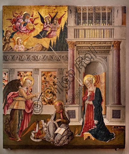 Perugia, Galleria Nazionale dell'Umbria: Annunciazione dei Notai, di Benedetto Bonfigli,1450-3, tempera su tavola.
