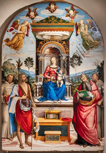 Perugia, Galleria Nazionale dell'Umbria: Pala di S. Girolamo, di Giovan Battista Caporali, 1510-5, tempera su tavola.