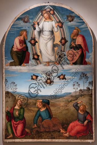 Perugia, Galleria Nazionale dell'Umbria: Pala Graziani, tempera e olio su tavola, di Pietro di Cristoforo Vannucci, detto il Perugino, 1517 circa.