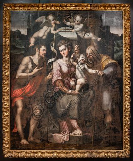 Perugia, Galleria Nazionale dell'Umbria: Sacra Famiglia e S. Giovanni Battista, di Raffaellino di Michelangelo, detto Raffaellino del Colle, 1560, olio su tavola.