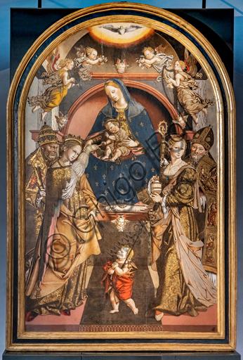 Perugia, Galleria Nazionale dell'Umbria: Sposalizio mistico di Santa Caterina (con Maddalena, Giovannino, Vescovo e Pietro), di Bernardino di Mariotto, 1530-3, tempera su tavola.