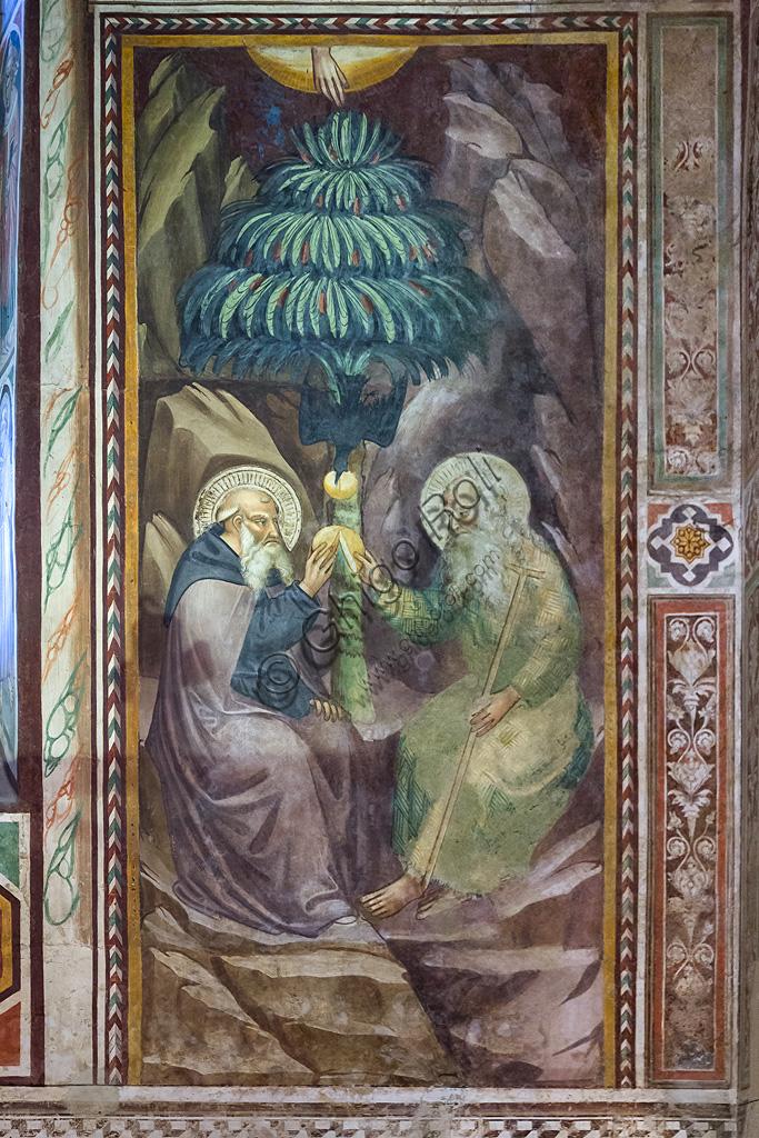 Pescia, Oratorio di San Antonio Abate: affresco attribuito a Bicci di Lorenzo ( prima metà del Quattrocento).