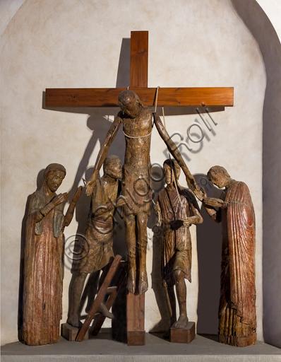 Pescia, Oratorio di San Antonio Abate: Deposizione lignea di scuola umbro-toscana della seconda metà del XIII secolo.