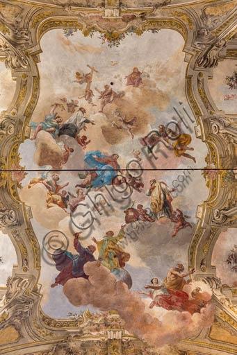 Piacenza, ex Chiesa di San Vincenzo, Sala dei Teatini: affreschi del XVIII secolo nella volta.