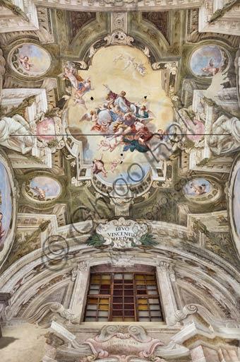 Piacenza, ex Chiesa di San Vincenzo, Sala dei Teatini: affreschi del XVIII secolo.