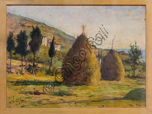 "Piacenza, Galleria Ricci Oddi: ""Pagliai al sole"" (Haystacks in the Sun"", by Silvestro Lega."