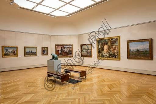 Piacenza, Galleria Ricci Oddi: una sala.