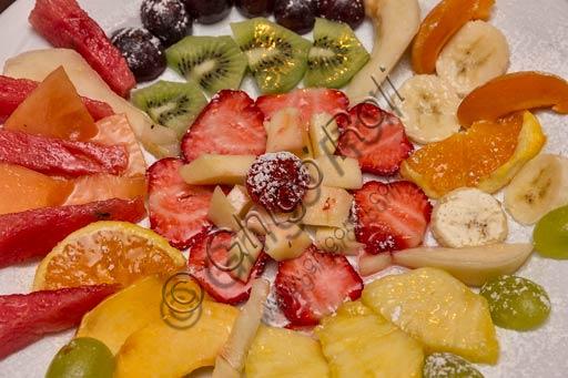 Piacenza, Osteria La Carrozza: macedonia di frutta.