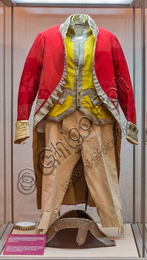 Piacenza, Farnese Palace, Municipal Museums, the Carriage Museum: man dress.