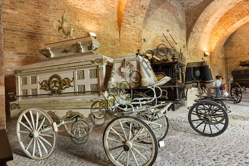 Piacenza, Farnese Palace, Municipal Museums, the Carriage Museum: the hearse room.